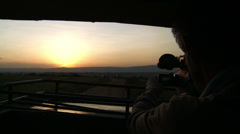 Filming sunset Stock Footage