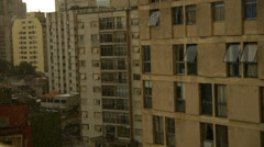 Rain in downtown Stock Footage
