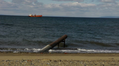 A beach on the Strait of Magellan - Punta Arenas I Stock Footage