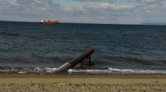 A beach on the Strait of Magellan - Punta Arenas I Stock Footage