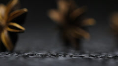 Star Anise spice Stock Footage