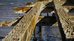 Abandoned Pier in Punta Arenas - Strait of Magellan IV Stock Footage