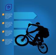 Vector kuva BMX pyöräilijä Piirros