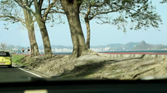 A car ride view of Rio de Janeiro, next host of Worldcup and Olympics. Stock Footage