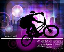 Sport road bike riders bicycle. Vector Stock Illustration