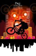 Sport road bike riders bicycle. Vector - stock illustration