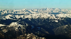 0210 Aerial view of Alps, winter time - stock footage