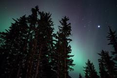 faint aurora glow - stock photo