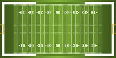 Textured Grass American Football Field Stock Illustration
