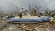 Stock Video Footage of Storm Surge Destruction In Tacloban After Typhoon Haiyan