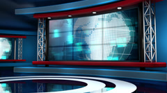 Breaking News Modern Virtual Studio Set Arkistovideo
