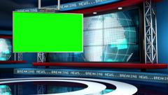 Breaking News Modern Virtual Studio Set - stock footage