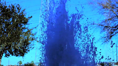 Slo-Motion Water Fountain Stock Footage