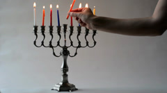 hanukkah 02 - stock footage