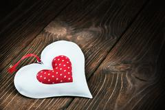 Decorative heart toy Stock Photos