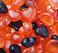 background of hearts marmalade - stock photo