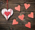 Stock Photo of decorative hearts toys