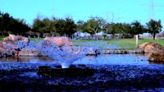 Small Water Fountain Stock Footage