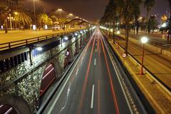 barcelona night - stock photo