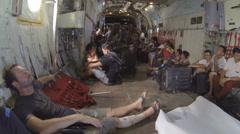 Typhoon Haiyan evakuointilento Loukkaantuneet Arkistovideo
