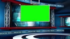 Breaking News Modern Virtual Studio Set - stock footage