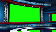 Stock Video Footage of Breaking News Modern Virtual Studio Set