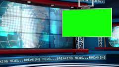 Stock Video Footage of Breaking News Modern Virtual Studio Set
