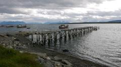 Fjord`s Pier - Puerto Natales Stock Footage