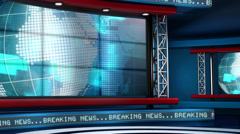 Breaking News Modern Virtual Studio Set Stock Footage