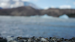 The beach on Gray Glacier Stock Footage