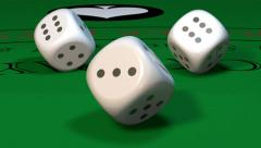Casino dice loopable Stock Footage