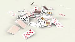 Playing cards dynamics Stock Footage