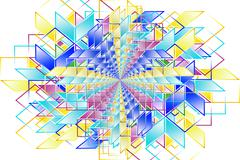 Complex hypercubes - Abstract geometrical background Stock Illustration