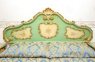 Stock Photo of baroque bed detail