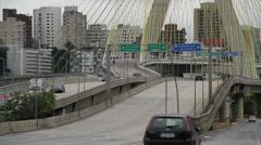 Cable-stayed Bridge (Ponte Estaiada) - Rain VII Stock Footage