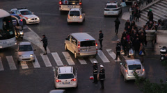 The accident (pedestrian on the floor) 4 - early evening Stock Footage