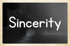 sincerity concept - stock illustration