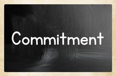 commitment concept - stock illustration