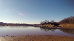 Barren River Lake Bed 2 HD Stock Footage