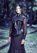 Girl Victorian style Stock Photos
