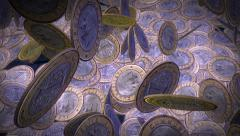 Falling Coins (Turkish Lira) Stock Footage