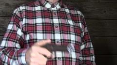 Cowboy , Pepper box gun Stock Footage