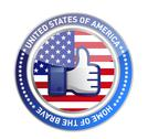 Stock Illustration of like hand usa button