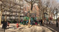 Children playground Stock Footage