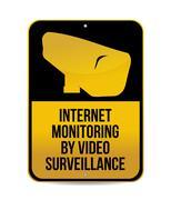 internet monitoring by video surveillance sign illustration design - stock illustration