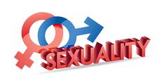 Sexuality male and female symbols illustration design over white Stock Illustration