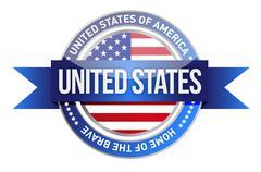 United states of america, usa seal illustration design over white Stock Illustration