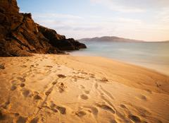 beach without people - stock photo