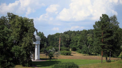 Landscape with a rotunda - stock footage