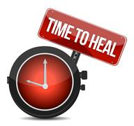 time to heal illustration design over a white background - stock illustration